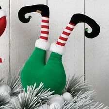 Elf Butt Behind & Legs Christmas Decoration 20in Green rzchnv 3616421 NEW RAZ