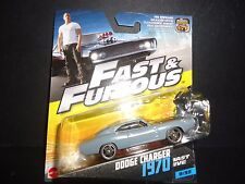 Hot Wheels Dodge Charger 1970 Flat Grey Fast and Furious 1/55