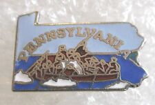 Vintage State of Pennsylvania Map Travel Souvenir Collector Pin