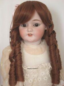 """perruque Jumeau® boucles Auburn T38/40cm-poupée ancienne-doll Wig head sz15/16"""""""