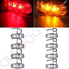 8pcs LED Light Red/Amber Surface Mount Universal Side Marker Trailer Clear Cover