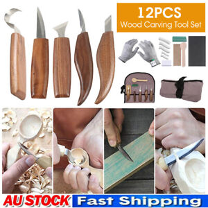 10/12PCS Wood Carving Spoon Tool Chip Hook Set Kits Woodcarving Tools Hand Tool