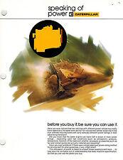 Caterpillar Speaking Of Power 4 Pg Brochure
