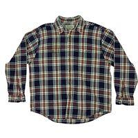 Vintage Eddie Bauer Plaid Flannel Shirt Men's Size XL Long Sleeve Button Up 80s