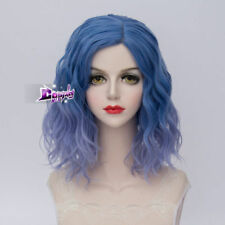 40CM Short Curly Hair Lolita Multi Color Women Party Ombre Synthetic Cosplay Wig