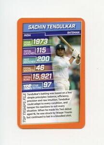 #TN19815 SACHIN TENDULKAR 2020 British Quartett Cricket Card
