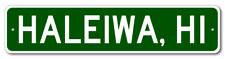 Haleiwa, Hawaii Metal Wall Decor City Limit Sign - Aluminum