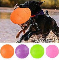 Silicone Dog Frisbee Toy Training Exercising Throwing Flying Disc Fetch Toy