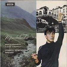 Mendelssohn: Scotch & Italian Symphony (Mono LXT) : Claudio Abbado