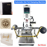 8*10CM Hot Foil Stamping Machine Automatic Leather PVC Emboss Printing Bronzing