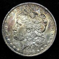 1896 - P  Silver Morgan Dollar Toned Uncirculated Coin. Die #6.
