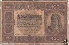 Ungarn - 1920 - 100 Korona (Száz Korona) - König Matthias Corvinus - Banknote