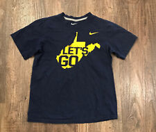 West Virginia Mountaineers Let's Go T Shirt Nike Dri Fit youth xl Wvu Football