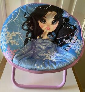 New MGA Moxie Girlz Purple Moon Chair Mini Saucer Lounge Chair Girls Furniture