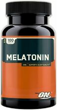 Optimum Nutrition Melatonin 3mg (100 Tabs) New/Factory Sealed and Free Shipping