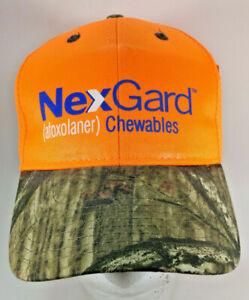 NexGard (afoxolaner) Chewables Strapback Hat Cap Tick Repellent Mossy Oak Orange