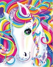 *****RAINBOW UNICORN HORSE***FABRIC/T-SHIRT IRON ON TRANSFER