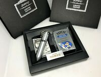 ZIPPO 1997 Limited Edition POPEYE Lighter & Bullet-Shaped Oil Tank Key Chain Set