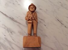 Wood Carved Man From Quebec Canada Vintage