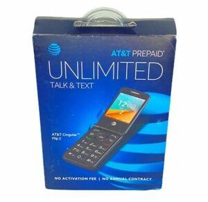 AT&T Prepaid Alcatel Cingular Flip 2 KAIOS 4GB Flip Phone 4044O Dark Gray