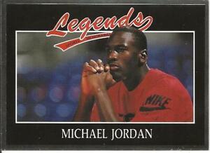 MICHAEL JORDAN ; 1991 LEGENDS SPORTS MEMORABILIA SILVER FOIL CARD No. 11