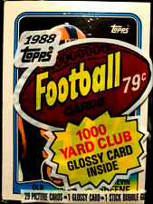 1988 Topps Football Cello Pack w/ KEVIN GREENE RC ON TOP ~ HALL OF FAME INDUCTEE