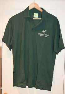 Greene King IPA GREEN Polo Shirt Real Ale Cask Beer Size LARGE L - Breweriana
