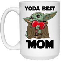 Yoda Best Mom Coffee Mug Funny Yoda Hug Heart Mother Gift Funny Cup Gift For Men