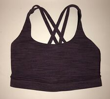 LULULEMON ENERGY SPORTS BRA WEE ARE FROM SPACE SEPTEMBER PLUM SZ 4