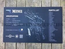 Pistolet de nettoyage en caoutchouc anti-dérapant Work Bench Mat 1911 pistolet armurier Airgun airsoft
