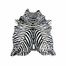 Zebra Print Cowhide Rug Skin Faux Cow Hide Premium Quality