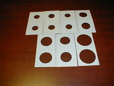 100 2x2  New Cardboard Coin Holders Flips U Pick Size Plus 2018 P D Cents