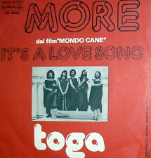 "OST MONDO CANE  MORE ( ORTOLANI )   7"" TOGA . IT'S A LOVE SONG ITALY 1976"