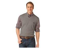 NEW Chaps Men's V-neck Sweater Vest /Gray Dark Pebble Heather/ Large