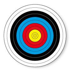 "Pin Button Badge Ø25mm 1"" Cible Target Tir a l'Arc Archet Archery Fleche"