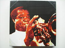 Louis ARMSTRONG Retrò AMERICAN JAZZ CANTANTE / TRUMPETER TELA STAMPA / Wall Art