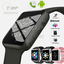 Bluetooth Reloj inteligente De Pulsera A1 GSM , Android Samsung iPhone Adultos Y Niños