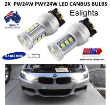 2X PW24W LED PWY24W HEADLIGHT BULBS FRONT TURN SIGNAL DRIVING LIGHTS BMW AUDI