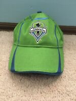 Seattle Sounders FC adidas Youth Adjustable Hat MLS Size 4-7 Green