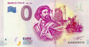ALLEMAGNE Marco Polo, 1254-1324, 2019, Billet Euro Souvenir