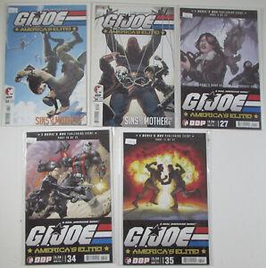 G.I. Joe America's Elite! Lot of 5 #23,24,27,34,35 Devil's Due 2007 Comic Books