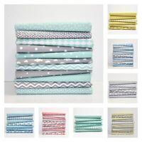 FQ BUNDLE Pastel STARS DOTS CHEVRON Fabric100% Cotton Patchwork Dressmaking
