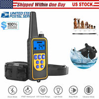 Remote Electric Dog Shock Train Collar Rechargeable Small Large Puppy Training