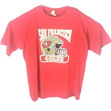 Vintage Men's Nfl San Francisco 49ers Logo 7 T-shirt Red Single Stitch Size Xl