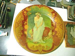Antique Royal Saxon Art Plate - St Louis Coffin Co.