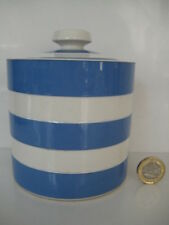 T G GREEN CORNISHWARE CORNISH BLUE BREAKFAST PRESERVE LARGE JAR J. ONION ENGLAND