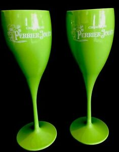 PERRIER JOUET POLYCARB CHAMPAGNE HOT TUB POOLSIDE FLUTES NEW UNBOXED X 2