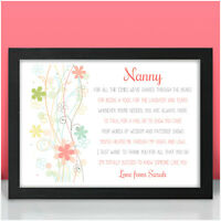 PERSONALISED Birthday Gifts for Nan Nanny Nanna Mummy Mum Christmas Presents