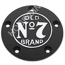 Jack Daniels Old No 7 Brand black timer cover Harley softail touring dyna