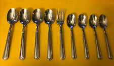 9 Pc Pfaltzgraff PROVIDENCE Glossy 18/8 Stainless Spoons Flatware